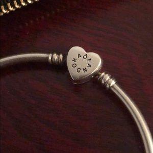 Pandora Jewelry - PANDORA Fam Forever Sterling Silver Heart Bangle